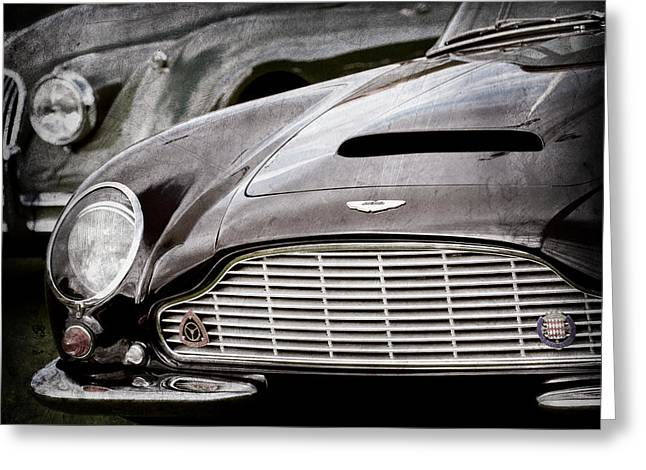1965 Aston Martin Db6 Short Chassis Volante Grille Greeting Card by Jill Reger