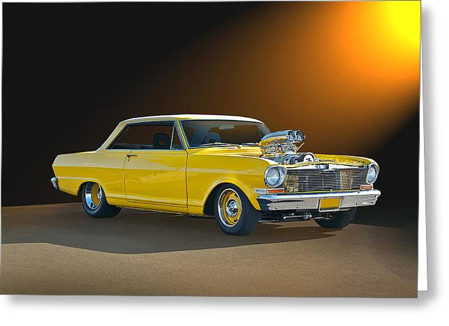 Rally Greeting Cards - 1965 Chevrolet Nova Greeting Card by Dave Koontz