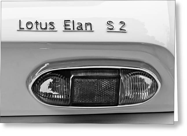 1965 Lotus Elan S2 Taillight Emblem Greeting Card by Jill Reger