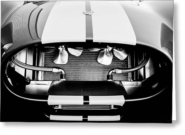 Grill Greeting Cards - 1965 Shelby Cobra Grille Greeting Card by Jill Reger