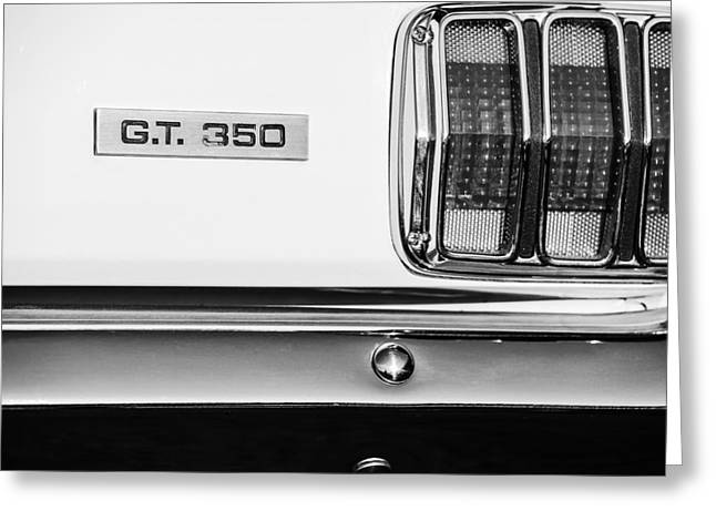 Gt-350 Greeting Cards - 1965 Shelby GT 350 Taillight Emblem Greeting Card by Jill Reger