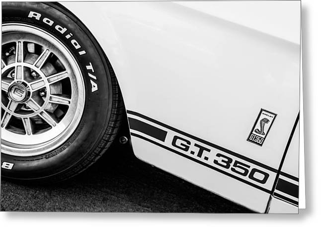 Gt-350 Greeting Cards - 1965 Shelby GT350 Side Emblem Greeting Card by Jill Reger