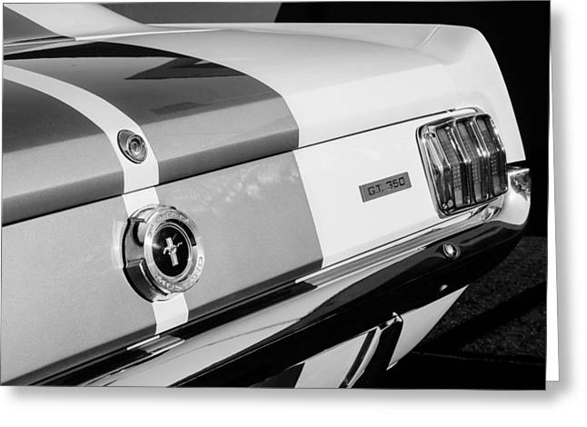 Mustang Gt350 Greeting Cards - 1965 Shelby Mustang GT350 Taillight Emblem Greeting Card by Jill Reger