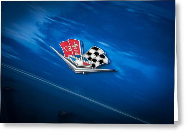 1966 Chevrolet Corvette Coupe Emblem   Greeting Card by Rich Franco