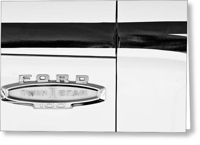 1966 Ford Pickup Truck Emblem Greeting Card by Jill Reger