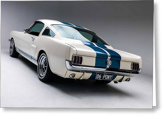 Mustang Gt350 Greeting Cards - 1966 Mustang GT350 Greeting Card by Gianfranco Weiss