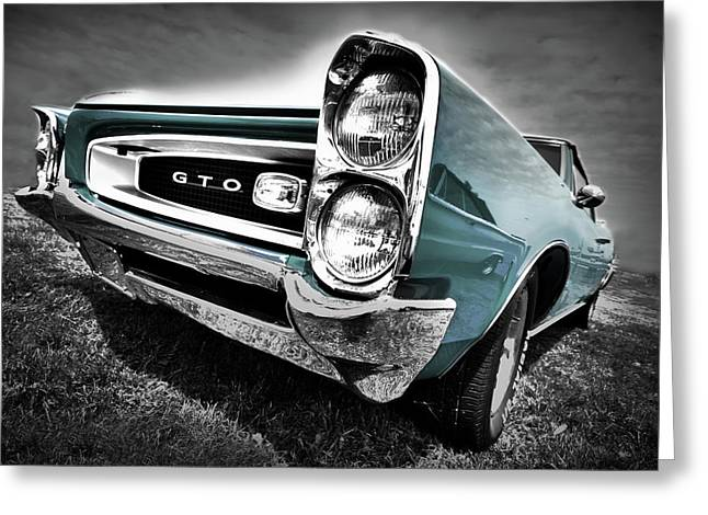 Art Mobile Greeting Cards - 1966 Pontiac GTO Greeting Card by Gordon Dean II