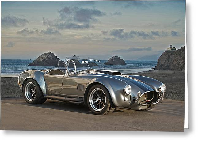 Rally Greeting Cards - 1966 Shelby Cobra Greeting Card by Dave Koontz
