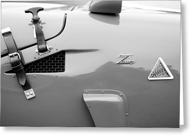 D.w Greeting Cards - 1967 Alfa Romeo TZ2 Zagato Coupe Side Emblems Greeting Card by Jill Reger