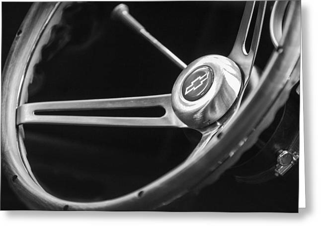 Steering Greeting Cards - 1967 Chevrolet Camaro SS 350 Steering Wheel Emblem  Greeting Card by Jill Reger