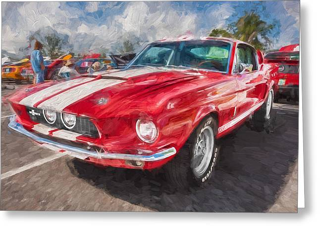 Police Cruiser Greeting Cards - 1967 Ford Shelby Mustang GT500 Painted  Greeting Card by Rich Franco