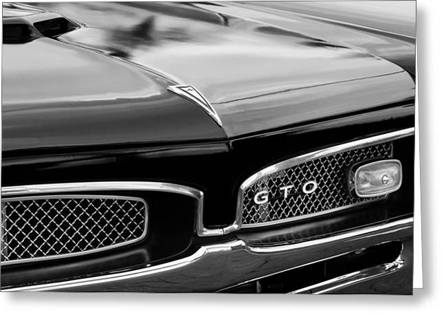 Pontiac Gto Greeting Cards - 1967 Pontiac GTO Grille Emblem Greeting Card by Jill Reger