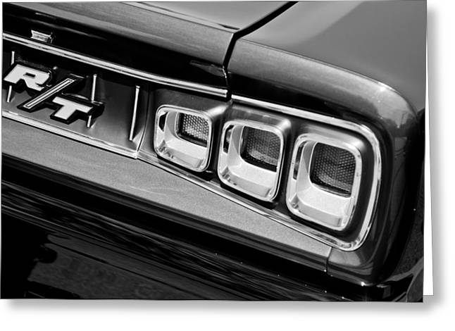 American Muscle Car Greeting Cards - 1968 Dodge Coronet RT Hemi Convertible Taillight Emblem Greeting Card by Jill Reger