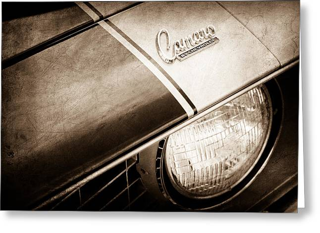 1969 Chevrolet Camaro Z-28 Emblem Greeting Card by Jill Reger