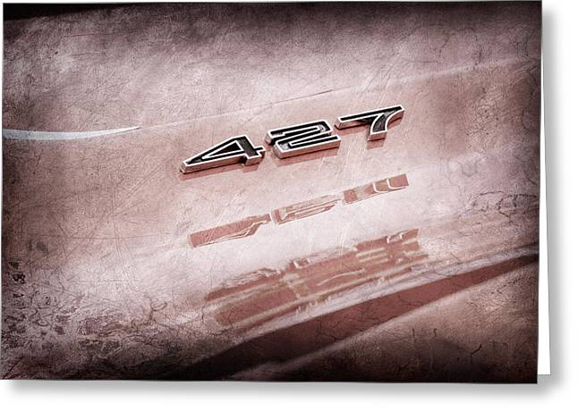 427 Greeting Cards - 1969 Chevrolet Corvette 427 Emblem Greeting Card by Jill Reger