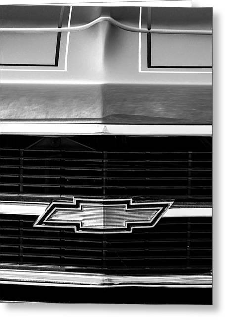 1969 Chevrolet Grille Emblem Greeting Card by Jill Reger