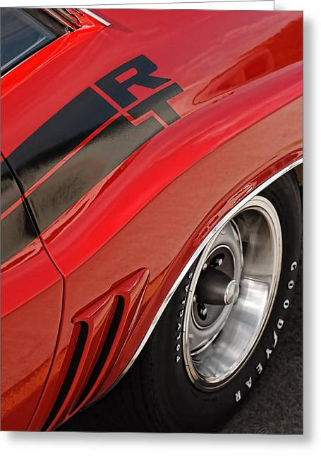 Gratiot Digital Greeting Cards - 1970 Dodge Challenger R/T Greeting Card by Gordon Dean II