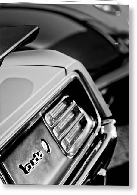 Cuda Greeting Cards - 1970 Pontiac Barracuda Cuda Taillight Emblem Greeting Card by Jill Reger
