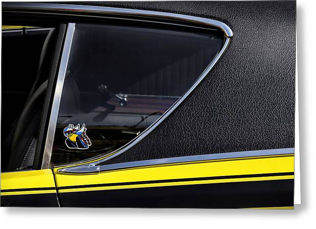 Dodge Super Bee Emblem Greeting Cards - 1971 Dodge Charger Super Bee Greeting Card by Gordon Dean II