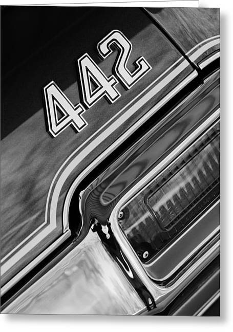 1971 Oldsmobile 442 Taillight Emblem Greeting Card by Jill Reger