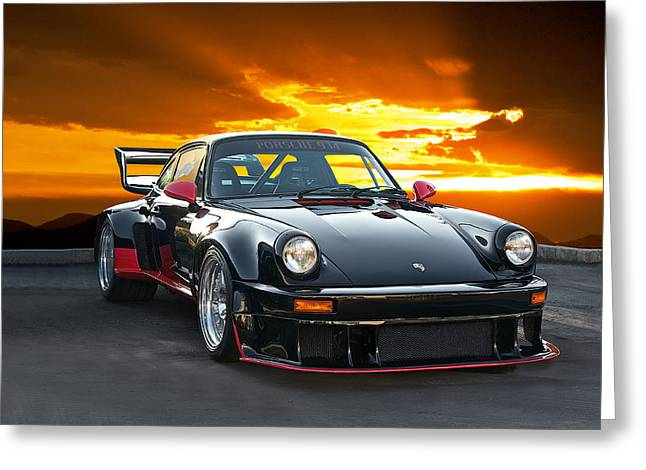 Rally Greeting Cards - 1977 Porsche 934 Greeting Card by Dave Koontz