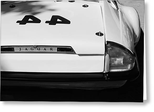 1978 Jaguar Xj-s Group 44 Trans-am Race Car Taillight Emblem Greeting Card by Jill Reger
