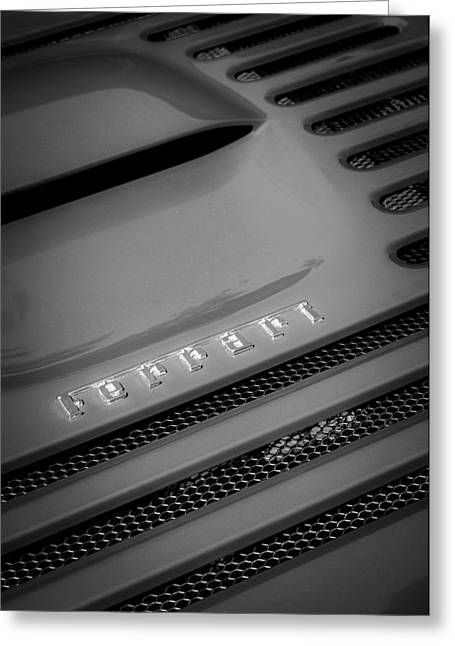 1997 Ferrari F-355 Spider Greeting Cards - 1997 Ferrari F-355 Spider Emblem Greeting Card by Jill Reger