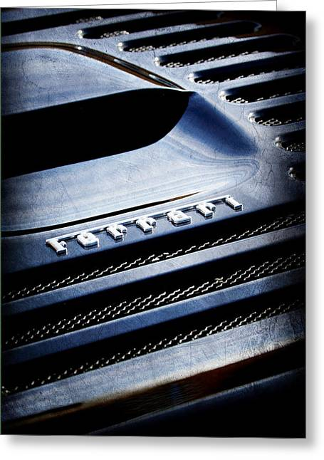 1997 Ferrari F-355 Spider Greeting Cards - 1997 Ferrari F 355 Spider Rear Emblem Greeting Card by Jill Reger