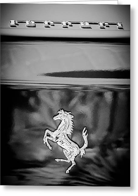 550 Greeting Cards - 1999 Ferrari 550 Maranello Emblem -651c Greeting Card by Jill Reger