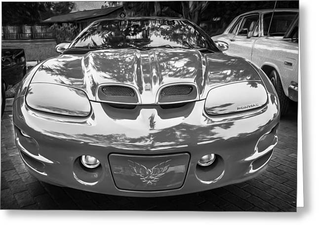 1999 Pontiac Trans Am Anniversary Edition Painted Bw    Greeting Card by Rich Franco