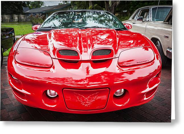 1999 Pontiac Trans Am Anniversary Edition Painted Greeting Card by Rich Franco