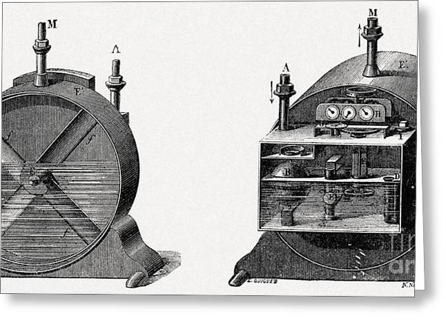 Gas Meter Greeting Cards - 19th Century Gas Meter, Artwork Greeting Card by CCI Archives