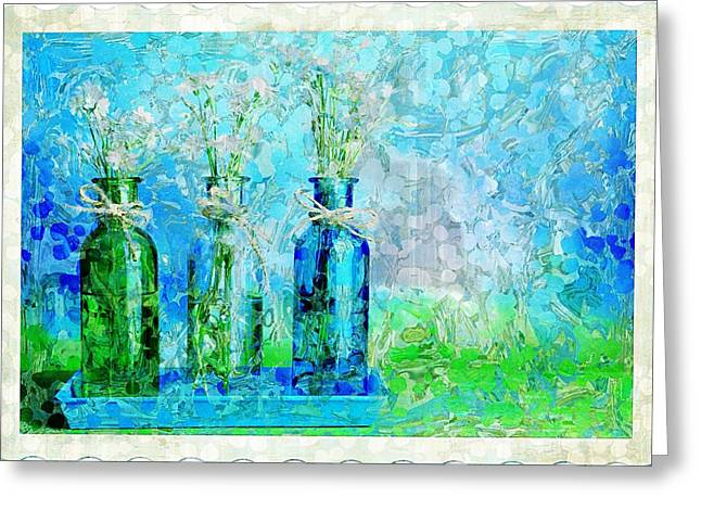 1-2-3 Bottles - S13ast Greeting Card by Variance Collections