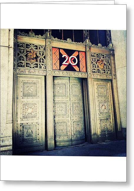 Numerical Greeting Cards - 20 Exchange Place Art Deco Greeting Card by Natasha Marco