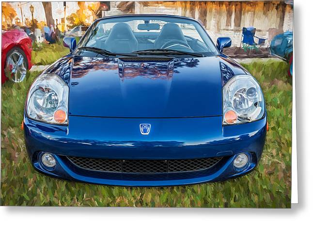 Modify Greeting Cards - 2005 Toyota MR2 Sports Car Painted  Greeting Card by Rich Franco