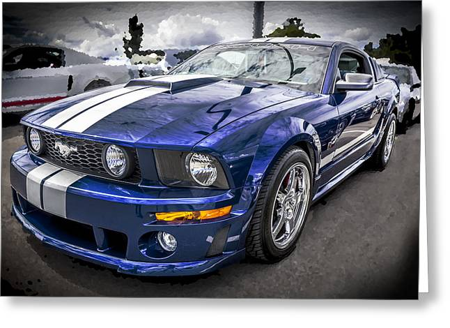 Rich Franco Greeting Cards - 2008 Ford Shelby Mustang with the Roush Stage 2 Package Greeting Card by Rich Franco