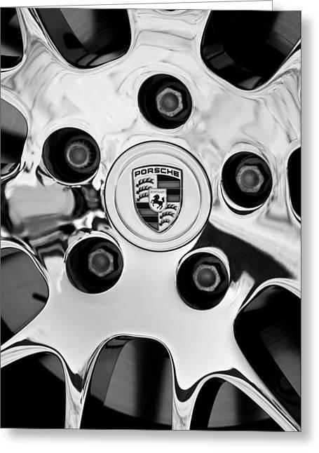 2010 Greeting Cards - 2010 Porsche Panamera Turbo Wheel Greeting Card by Jill Reger