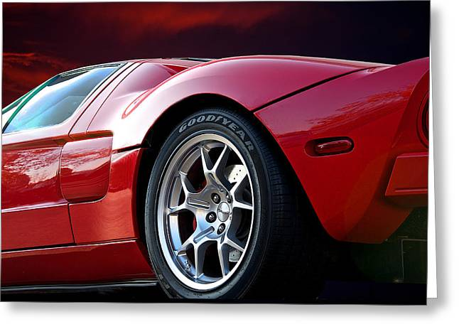 Rally Greeting Cards - 2011 Ford GT II Greeting Card by Dave Koontz
