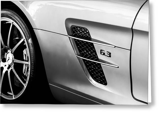 Jill Reger Photography Greeting Cards - 2012 Mercedes-benz Sls Gullwing Wheel Greeting Card by Jill Reger