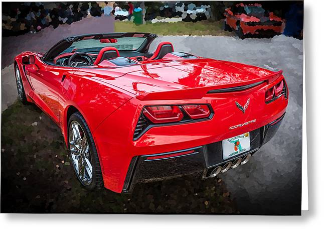 Transmission Greeting Cards - 2014 Chevrolet Corvette C7  Greeting Card by Rich Franco
