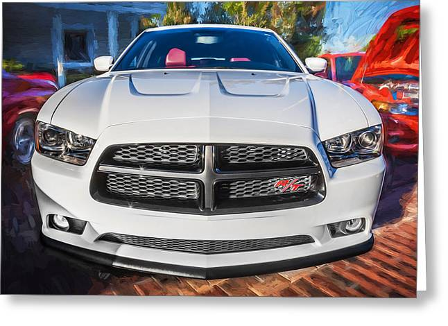 345 Greeting Cards - 2014 Dodge Charger RT Painted  Greeting Card by Rich Franco