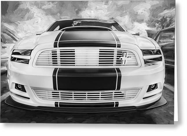 Cs Greeting Cards - 2014 Ford Mustang GT CS Painted BW    Greeting Card by Rich Franco