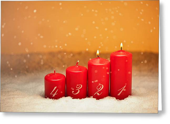 Candle Lit Greeting Cards - 2nd Advent Greeting Card by Ulrich Schade