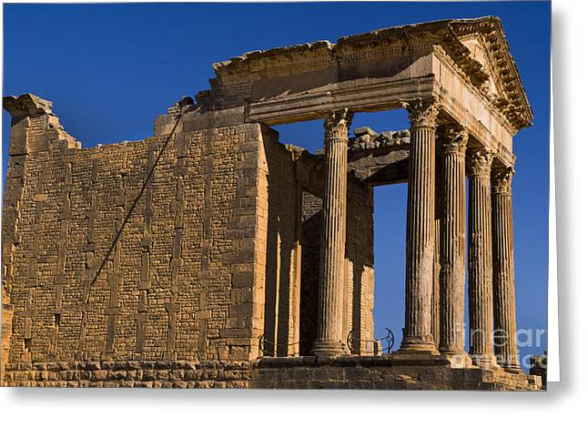 Northern Africa Greeting Cards - 2nd Century Roman Ruins, Tunisia Greeting Card by Bill Bachmann