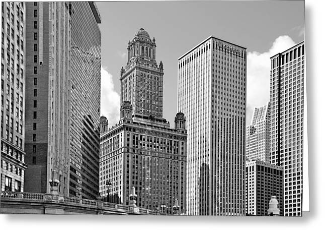 Club Greeting Cards - 35 East Wacker Chicago - Jewelers Building Greeting Card by Christine Till