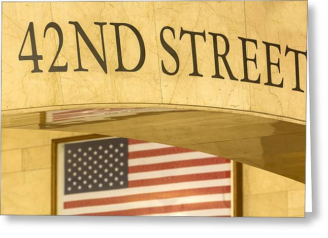 North America Greeting Cards - 42nd Street Greeting Card by Susan Candelario