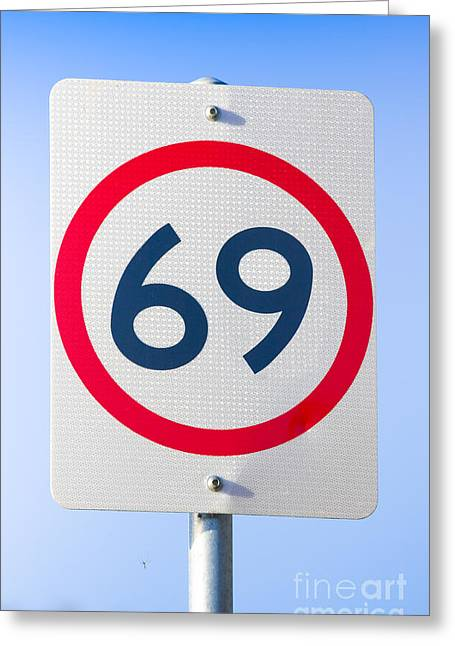 Symbology Greeting Cards - 69 Road Sign On The Highway Of Love Greeting Card by Ryan Jorgensen
