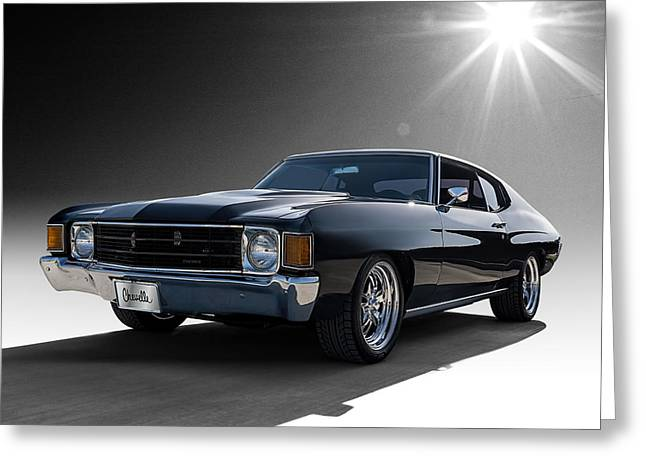 Sportscar Greeting Cards - 72 Chevelle Greeting Card by Douglas Pittman