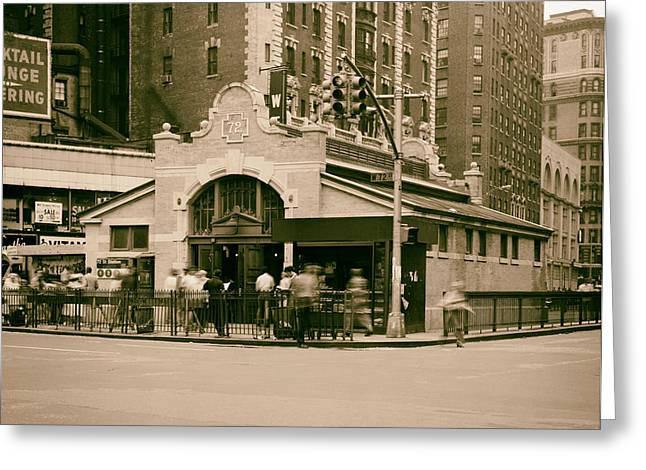 Analog Greeting Cards - 72nd Street Station - NYC 1978 Greeting Card by Mountain Dreams