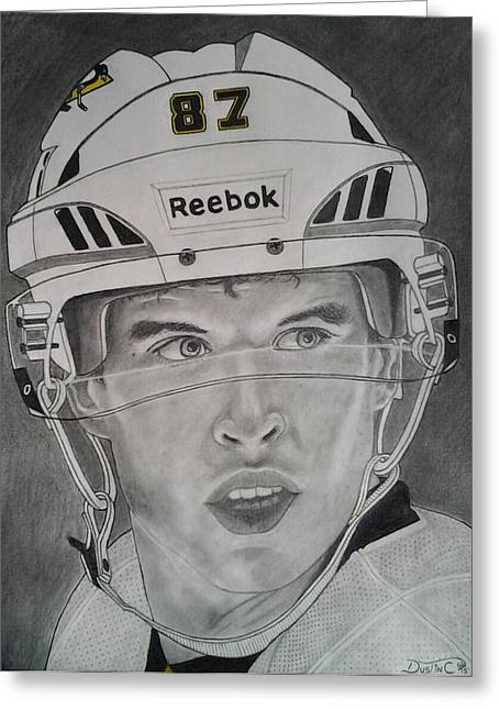 Sidney Crosby Greeting Cards - 87 Greeting Card by Dustin Caplette